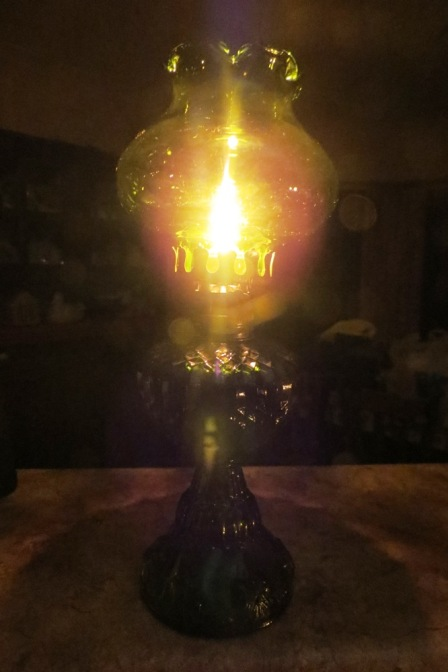 The gentle golden aura of the kerosene lamp was a welcome change to harsh, electric lighting.