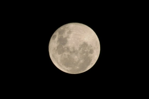 Do you see the face of the man in the moon?  :)