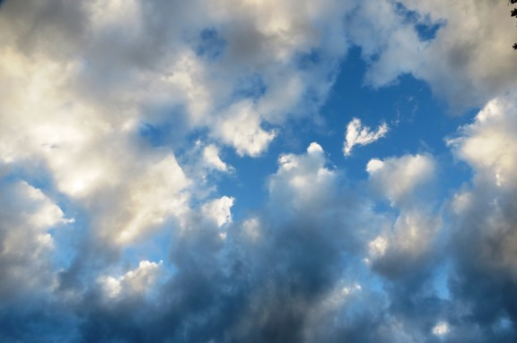 The blue sky likes to overpower the white fluffy clouds sometimes.