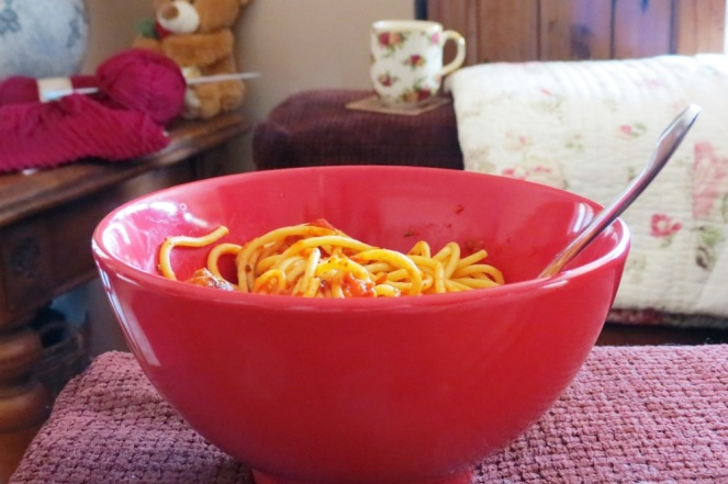 My appetite usually does need any help getting motivated, but apparently my red bowls are helping anyway!