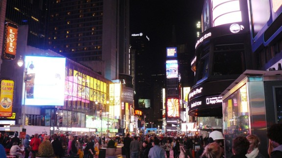Bustling New York.