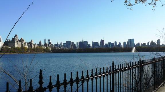 Looking over the water from Central Park.