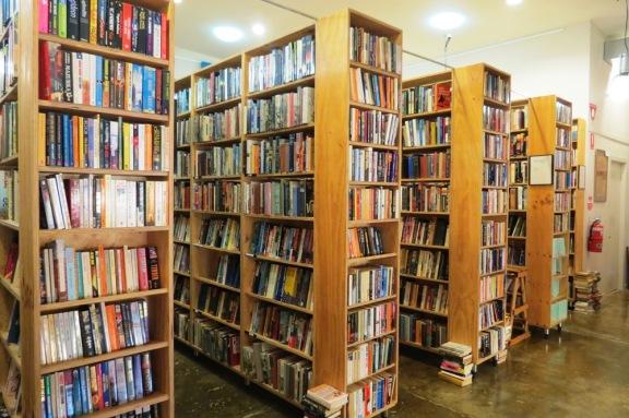 Shelf after shelf of books...