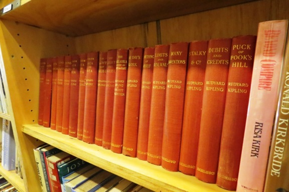 I love the matching series of books so often found here, in the second-hand section.