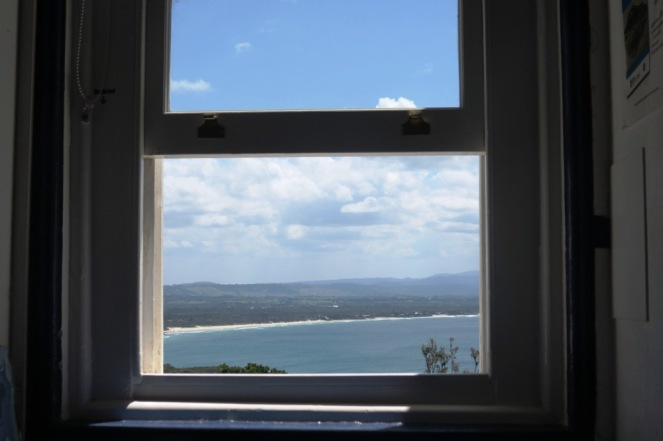 A view from the lighthouse keepers house.