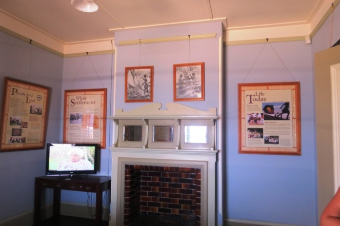 Rooms now display old photos and information of interest from the days of old.