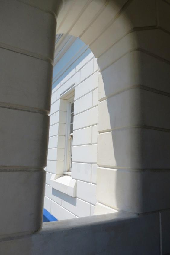 A window through a window.