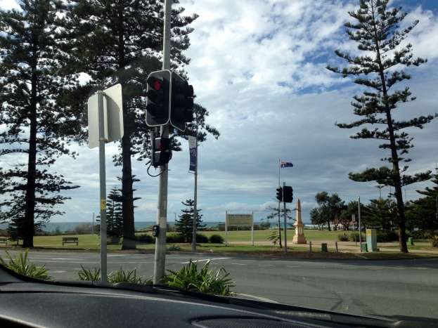 On the corner of MacLean Street and Marine Parade.