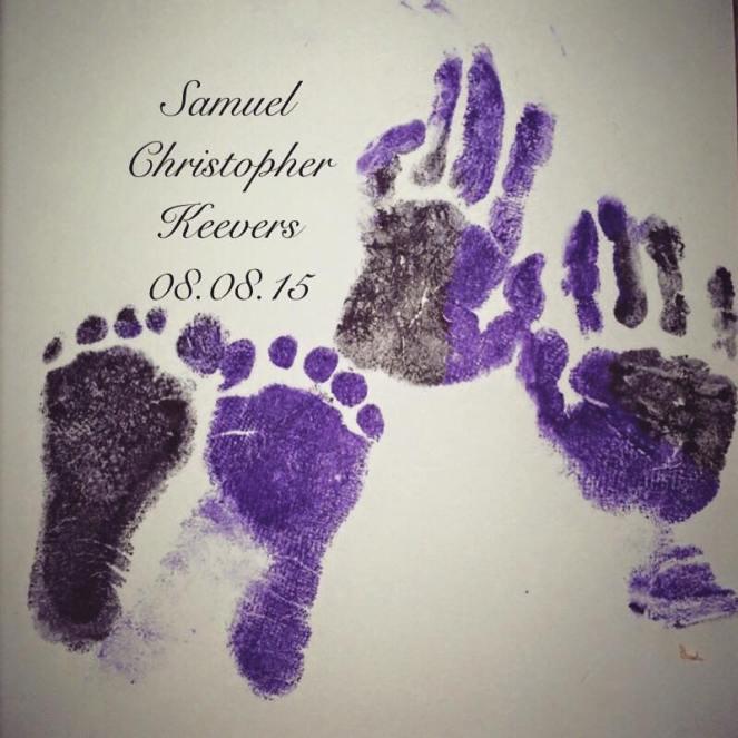 Samuel's hands and feet